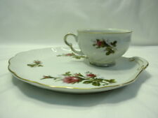 Made in Japan Bella Rose Moss Rose Snack Set Plate and Cup