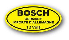 Vintage VW YELLOW 12 Volt Bosch Coil DECAL STICKER VOLKSWAGEN BEETLE GHIA TYPE 1