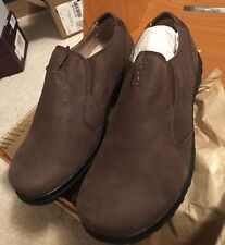 Bogs Mens Eugene Slip On Size 9 Waterproof Leather Shoe NEW Chocolate 71605