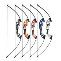 "60"" Straight Bow Take Down Recurve Bow 30-40lbs Archery Hunting Target Shooting"
