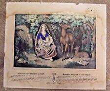 Antica Manifesto Illustrazione Stampa Reliquiario Genevieve Abbandonato Nel La