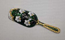Vintage Russian Silver Gilt And Enamel Tea Caddy Spoon