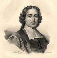 Grand Portrait de Esprit Fléchier - Lithographie XIXème