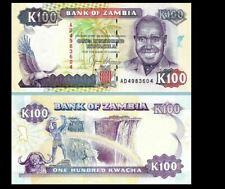 ZAMBIA 100 KWACHA 1991 YEAR P 34 UNC
