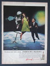 1966 Smirnoff Vodka Space Themed Vintage  Print Ad