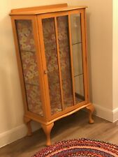 Painted shabby-chic retro vintage kitsch upcycled distressed display cabinet