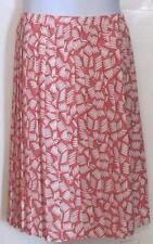 Ricky's Skirt Coral pink white floral misses sz 10 pleated a-line skirt USA j166