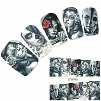 Tattoo Nail Art La Catrina Day of the Dead Dia de Muertos Aufkleber