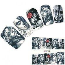Tattoo Nail Art La Catrina Day of the Dead Dia de Muertos Aufkleber
