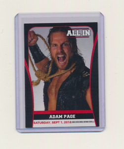 2018 Trading Card All In AEW Adam Page
