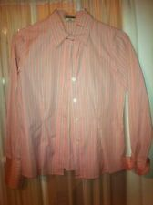Michael Kors White Pink Stripes Womens Button Down Shirt Blouse Top Size 6 EUC