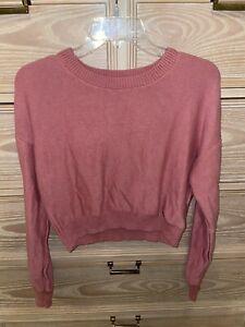 Hollister Women's Junior Sweater Crop Pink Size XS NWOT