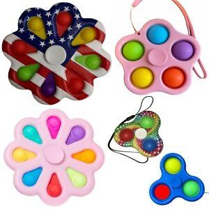 Simple Dimple Push Pop Bubble Sensory Autism Toy It Stress Relief Fidget Spinner