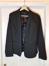 Ladies Black jacket with fine polka dots, UK14.
