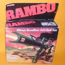 VINTAGE 1986 80s COLECO RAMBO 106mm RECOILLESS ANTI-TANK GUN BOXED RARE