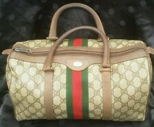 Authentic Vintage GUCCI Web Doctor Bag Satchel Multi-Use Purse Handbag GG Logo