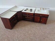 dolls house wooden furniture kitchen cooker sink corner units