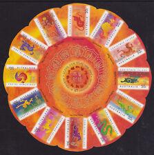 2007 Christmas Island Lunar New Year - Self Adhesive Circular Sheetlet
