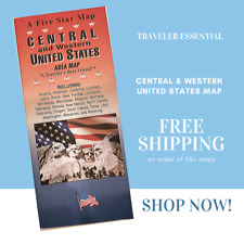 Traveler Set Central And Western United States Five Star Folding Maps