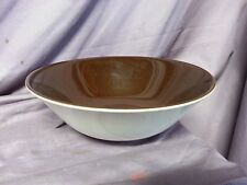 Vintage CROWN LYNN COLOUR GLAZE BROWN VEGETABLE BOWL NEW ZEALAND MID CENTURY