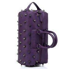 Noble Bags Pernelle Punk XL Rivets Lilac Damen Lederhandtasche 3Handle *UVP 399€