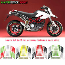 For DUCATI HYPERMOTARD RIM STRIPES STEREO PASTERS MOTORCYCLE WHEEL DECALS TAPE