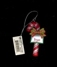 Candy Cane Ornament BRYAN Christmas Stocking Stuffer Holiday Gift Tag Teacher