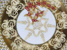 VERSACE MEDUSA GOLD PLATE CHRISTMAS RETIRED RETAIL $200 SALE