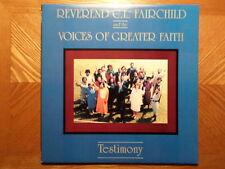 ICHIBAN/GOSPEL CAPITAL RECORDS LP/REV CL FAIRCHILD/TESTIMONY/NR MINT VINYL