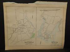 Conneticut, Fairfield County Map City of Norwalk Dbl Side Dbl Pg 1893 R4#94