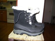 Lands End boots Black White  Winter Snow Fur Lined Duck Boots Size 7  7B