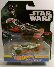 BOBA FEET'S SLAVE I CAR STAR WARS CARSHIPS DISNEY HOT WHEELS DIECAST 2016