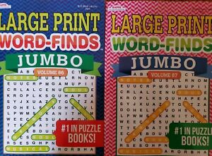 2 JUMBO WORD FIND Puzzle Books Kappa Vol 86 & 87 LARGE PRINT  SEARCH 122 ea vol.