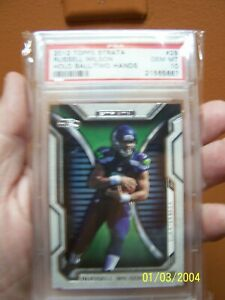 """PSA 10 Russell Wilson 2012 Topps """"Strata"""" rookie card/Gem Mint"""