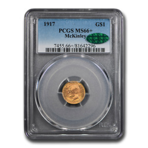 1917 Gold $1.00 McKinley MS-66+ PCGS CAC - SKU#196911
