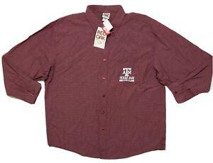 Red Oak Texas A&M Men's Button Up Shirt Size 2XL