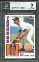 Don Mattingly Rookie Card 1984 Topps #8 New York Yankees BGS 9 (8.5 9 9 9)