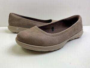 Skechers GO Walk Lite Slip-on Shoes Gem Brown Womens 8 Wide NWOB