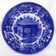 Fort Pitt Block House Flow Blue Plate Joseph Horne Co Pittsburgh Pa Antique