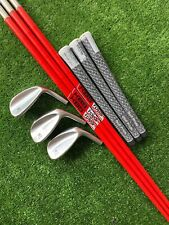Miura Milled Tour Series Wedge Set 50* 54* 58* KBS Custom HI Rev Shaft 3 Pcs