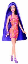 Barbie Hairtastic Orange Dress Long Purple Hair Doll