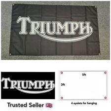 Triumph Workshop Garage Banner Flag Mancave Bonneville Speed Triple Daytona 955
