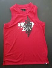 Nike Air Jordan 1 Jumpman Classic Wings Mesh Jersey Tank Red Bq8479 687 Size L