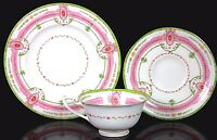 RARE ROYAL WORCESTER FINE BONE CHINA TRIO NEOCLASSICAL PATTERN