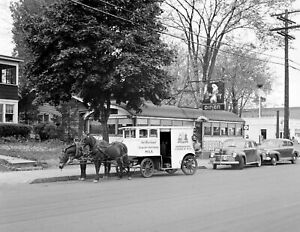 """1941 Milk Delivery Wagon Syracuse New York Old Photo 4"""" x 6"""" Reprint"""