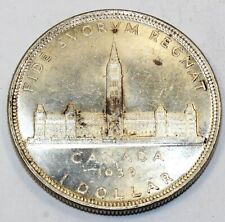 1939 Canada / Canadian One Silver Dollar - AU About Uncirculated Condition