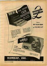 1946 PAPER AD Tom Thumb Toy Cash Register Kamkap Inc Co