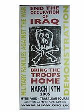 Billy Childish final la guerra de Iraq 2005 Firmada A Mano Muy Raro Perfecto-más destruido