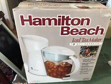New Sealed Hamilton Beach 2-Quart Electric Iced Tea Maker * NEW NEVER USED *
