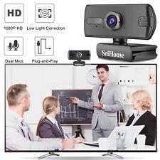 Ajustable 1080P Webcam USB Web Camera With Dual Microphone For Laptop Desktop PC